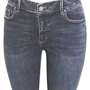 Ann Taylor Blue Modern Fit Frey Hem  Cropped Jeans